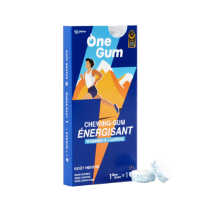 Ongum chewing gum ernergisant box football
